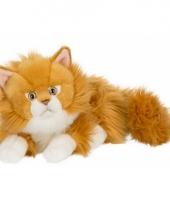 Knuffeldieren rode kat 25 cm