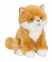 Knuffeldieren rode katje poesje 15 cm