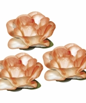 Knustel bloemen van papier oranje 1 5 cm