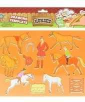 Knutsel materiaal kind tekensjabloon paard