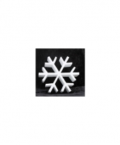 Knutsel sneeuwvlok van piepschuim 20 cm