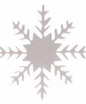Knutsel sneeuwvlok van piepschuim 30 cm 10077505