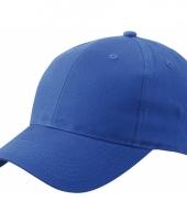 Kobalt baseball cap van katoen