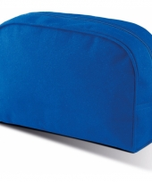 Kobalt blauw make up opberg tasje 5 liter