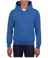 Kobalt blauwe trui met capuchon voor jongens