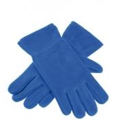 Kobalt fleece handschoenen voor mannen en dames