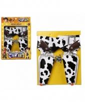 Koeien print cowboy holsters