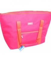 Koel tas roze met koraalrood 45 liter