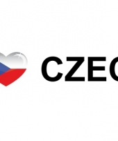 Koffer stickers i love czech