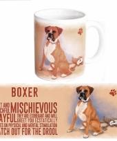 Koffie mok boxer hond 300 ml