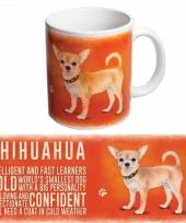 Koffie mok chihuahua hondje 300 ml