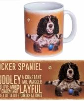 Koffie mok cocker spaniel hond 300 ml