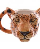 Koffie mok luipaard 400 ml