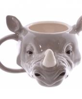 Koffie mok neushoorn 400 ml