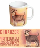Koffie mok schnauzer hond 300 ml