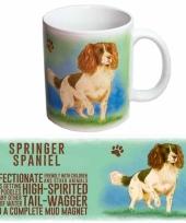 Koffie mok springerspaniel hond 300 ml