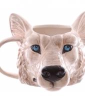 Koffie mok wolf 400 ml