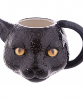 Koffie mok zwarte kat 400 ml