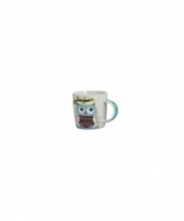 Koffie thee melk mok 300 ml blauw