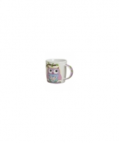 Koffie thee melk mok 300 ml lila