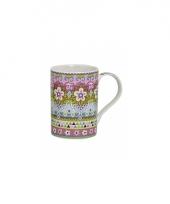 Koffie thee melk mok flower power