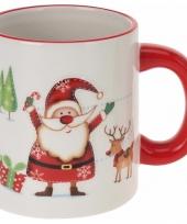 Koffiebeker kerstman opdruk
