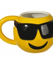 Koffiemok coole emoticon