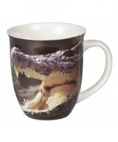 Koffiemok met krokodil