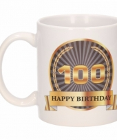 Koffiemok verjaardag 100 jaar 300 ml