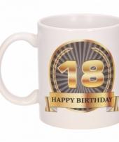 Koffiemok verjaardag 18 jaar 300 ml
