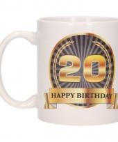 Koffiemok verjaardag 20 jaar 300 ml