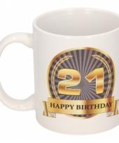 Koffiemok verjaardag 21 jaar 300 ml