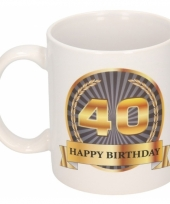 Koffiemok verjaardag 40 jaar 300 ml