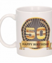 Koffiemok verjaardag 50 jaar 300 ml