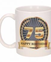 Koffiemok verjaardag 75 jaar 300 ml