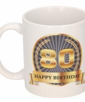 Koffiemok verjaardag 80 jaar 300 ml
