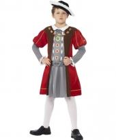Koning henry de achtste kostuum voor jongens