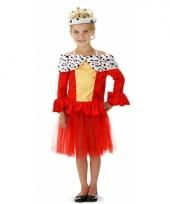 Koningin jurkje met tule rokje voor meisjes