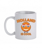 Koningsdag beker met holland is cool print 300 ml