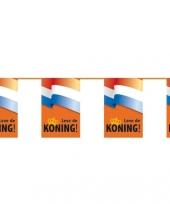 Koningsdag lang leve de koning vlaggetjes