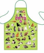 Kook schort katten thema
