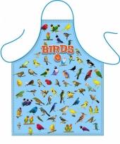 Kook schort vogels thema