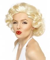 Korte blonde pruik met krullen 10030210