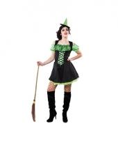 Korte groene dames heksenjurk