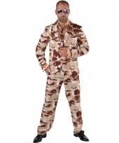 Kostuum met leger print voor heren