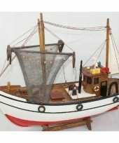Kotter miniatuur model zeilboot van hout 39 cm