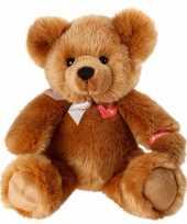 Kraam kado knuffel zittende bruine beer 40 cm