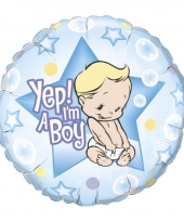 Kraamcadeau folie ballon jongen 45 cm