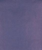 Kraft cadeaupapier blauw 70 x 200 cm
