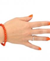 Kralen armbanden oranje